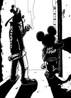 Goofy and Mickey by Lofo