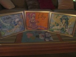 All Three Drawings Framed For my Cousins by SeraphinaPitchiner