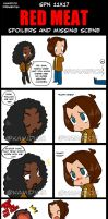 SPN 11x17 RED MEAT Missing Scene by KamiDiox