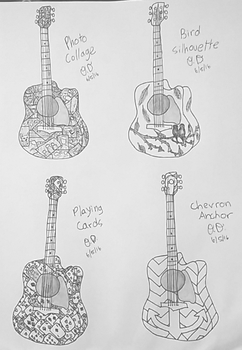Guitar Design Ideas by The-Snail-Lady