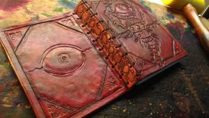 The Eye - Leather Book by StudioGruhnj