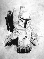 Boba Fett Sketch by jasonbaroody