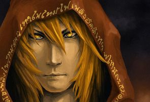 fire in his eyes by Krasharkk