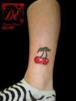 Cherries tattoo by lorddamian