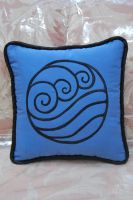 Water Tribe Pillow by zeldalilly