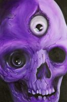 oil on canvas...skull by graynd