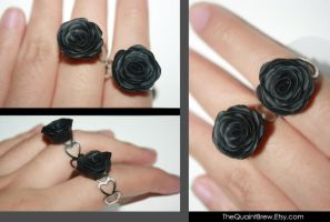 Black Rose Rings by kalos-eidos-skopein