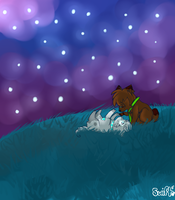 Up on a hill -speedpaint- by xx-shooting-stars-x