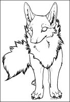 Lineart: Canine . free by Snow-Body