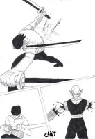 Roronoa Zoro vs. Piccolo 1 by clint-comics