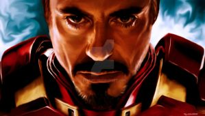 IRON MAN IN DIGITAL PAINT by YUHEND