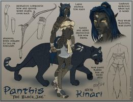 Panthis Character Design by ladyofdragons