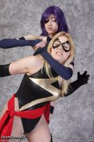 Ms Marvel vs Psylocke: Knife Threat by EccentricCasey