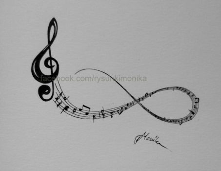 Infinity sign with Violin key by mydrawings11