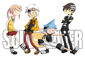 SE   Soul Eater Adventure Time by hirobae
