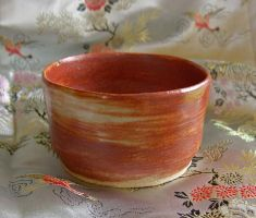 Russet shino tea bowl by CorazondeDios
