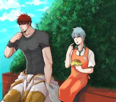 kuroko no basuke_Lunch break by LuCiFelLo
