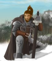 Knight in snow by necrophadian