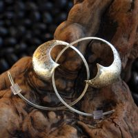 Sabre Series Silver Earrings 3 by DreamingDragonDesign