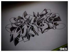 SmecK Graffiti Sketch 26 by SmecKiN