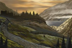 Highland Town... by Leebea