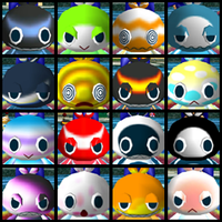 Chao army faces by DarkMetaller