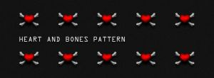 Plastic Heart and Bones Pattern by johannschill