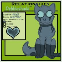 :: TcotV :: Pebbleshade's Relationship Chart by TheClansOf-TheValley