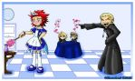 Axel lost a bet.... by Silverookami