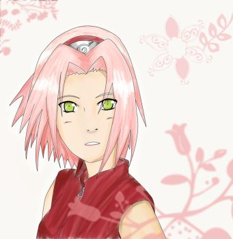 sakura - color en acuarela by sorahikary