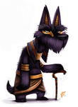 Day 556. Sketch Dailies Challenge - Anubis by Cryptid-Creations