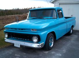 Light blue Chevy pickup by Ripplin