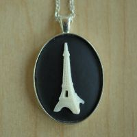 Eiffel Tower Necklace by MonsterBrandCrafts