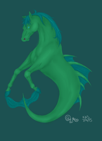 Hippocampus (Colored Lineart) by stardustlily03