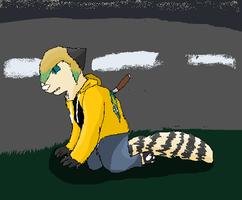 ..This is me with a knife in the back .. by XxSilentSnow