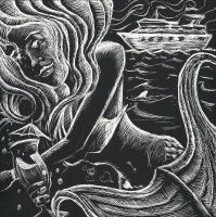 Cruise Ship Scratchboard by johnstiles