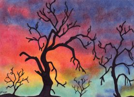 Colorful Trees by ToniTiger415