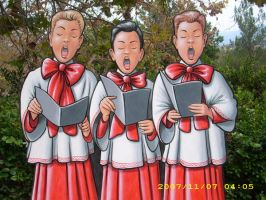 Trio of  X-mas Carolers by MuralsbyLeBold
