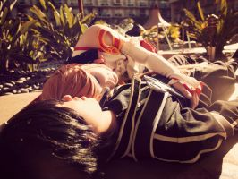 Asuna x Kirito: Just a short rest on a warm day. by SNTP