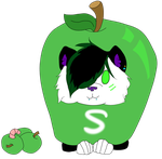Wolfy Presents Green Apple Skittles by lee-anndawuulf