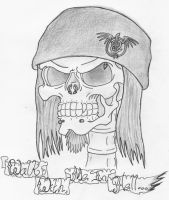 Skull Self Portrait by Heavy-metal-ink