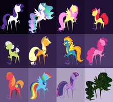 My little pony minis by LethalAuroraMage