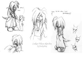 Lukas Filuca and SweetPea Sketches by Frankyding90