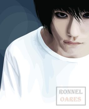 L of Death Note by SystemChloride