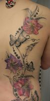 Butterfly Lily ready by 2Face-Tattoo