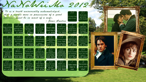 Pride and Prejudice - NaNoWriMo 2012 Calendar by hushed-angel