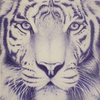 Tiger - Ballpoint Pen by ThePowerofQuill