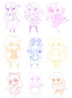Humanized chibi ponies by CielaArt