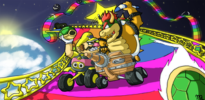 Mario Kart Art trade #2 by I-drew-a-pokemon