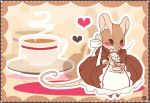Mrs mouse's tea time by Mi-eau